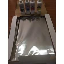 Pack 25 Laminas De Azucar + 400 Ml Tinta Comestible (4color)