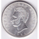 Excelente Estado Bu! 5 Sucres 1943 Ecuador (mexico)