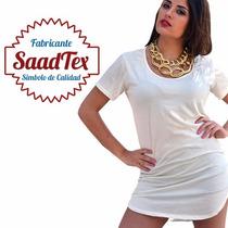 Remeras Lisas Larga Tapa La Calza. Modal Vs Colores- Saadtex