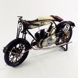 Motocicleta Racing Retrô Metal Miniat Arte Vintage Decoração
