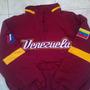 Chaqueta De Béisbol De Venezuela Color Vinotinto