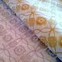 Papel Barrilete Seda Impreso Flores Dorado 50x70cm 100 Hojas