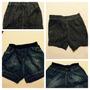 Kit 2 Shorts Infantis Seminovos 1 Ano/preto 3 Anos/jeans