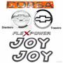 Kit Emblemas Corsa Sedan Flexpower + Joy Preto - 2003 À 2007