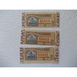 2666- Lote 3 Billetes Loteria Nacional 1947