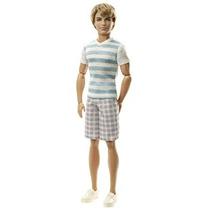 Juguete Barbie Fashionistas Ken Ken Rayado Camisa De La Muñ