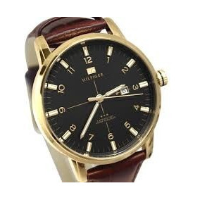Tommy Hilfiger Pulseira Couro Ouro
