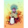 Poster Mulher Chinesa Roupa Típica - Tamanho 29,7 X 42 Cms