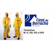 Macacão Amarelo Segurança Proteção Quimica Selado G Unit.