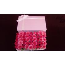 Arreglo Floral Tipo Caja De Regalo