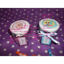 Frascos Golosineros,souvenirs De Vidrio 1añito,mickey Minnie
