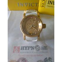 Relógio Invicta 19546 Original Ouro Dragon Yakusa Branco