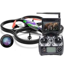 Drone Space Trek + Câmera + Tela Lcd + Fpv Ao Vivo 3d V666