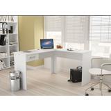 Mesa L Branca Mesa Escritório Consultório Odontologia Fn