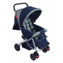 Carrinho De Bebê Berço E Passeio Azul Escuro Baby Style
