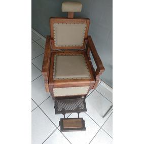 Cadeira De Barbeiro Antiga 1950 Em Madeira Jacarandá