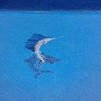 Mosaico Veneciano Pez Vela Nvo. Mod.con Sombra Para Alberca