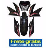 Kit Carenagem Nxr150 Bros Preto 2013+adesivo Roupa