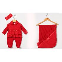 Saída Maternidade Menina Vermelha