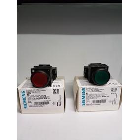 Pulsador Luminoso Siemens 22mm Verde/rojo 220v/24v 3sb3245-