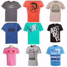 Kit 10 Camisetas Varias Marcas Atacado Revenda Oferta Barato