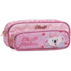 Estojo Escolar - Rosa - Ref. 80102544 - Lilica Ripilica