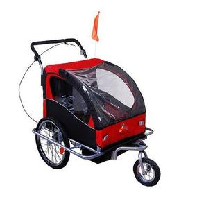 Aosom Elite Ii 3-en-1 Remolque Doble Bicicleta De Niño / Co