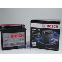 Bateria De Moto Bosch Em Gel Honda Pop 100 Ano 2007 Até 2013