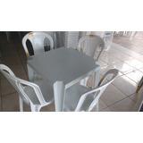Conjunto De Mesa Goiania Com Cadeiras Tramontina P/182 Kilos