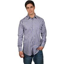 Camisa De Cuadros Azules Marca Bucardo
