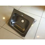 Lavamanos Acero Inox Ozti 40x30 Cms Con Perfil Escuadra
