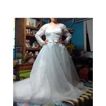 Vestido De Novia Nuevo Talla Grande Con Velo Y Tiara