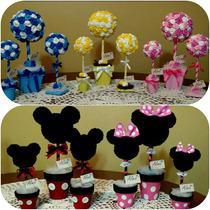 Topiario,arbolito, Mickey Y Minnie,centro De Mesa,souvenires