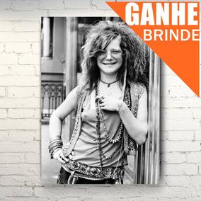 Poster Janis Joplin - Tam. Grande + Brinde