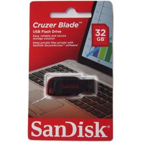 Pen Drive Sandisk 32 Gb Cruzer Blade 100% Original Lacrado