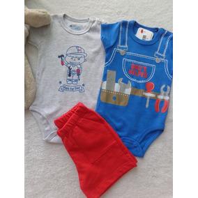Kit Conjunto Body Bebê Menino Dads Helper - Have Fun Hf0309