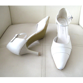 Zapato Blanco, Novia, La Casa Blanca, Sirve Tallas 36.5/37
