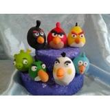 Adorno Torta Infantil [prcelana Fria Angry Birds