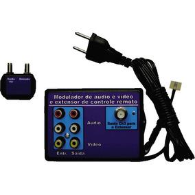 Extensor De Controle Remoto + Modulador Rf Até 5 Pontos Rca
