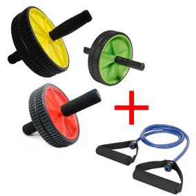 Roda De Exercícios Abdominais Abdominal + Extensor Elástico