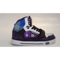 Tenis Drop Dead Evolution Girls Branco Preto Roxo
