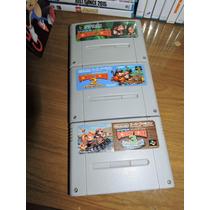 Donkey Kong 1 2 E 3 Trilogia Dk Super Famicom Snes