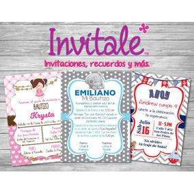 Invitaciones Imprimibles Bautizo, Presentación, Comunión
