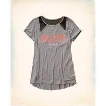 Camiseta Blusinha Hollister Abercrombie Fem Original Eua M