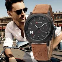 Reloj Tipo Militar Sport 2 Colores Correa De Cuero Analogo