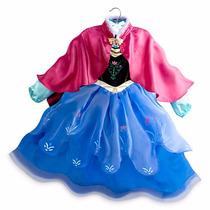 Disfraz Vestido Frozen Ana Con Capa Disney Store Usa