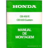 Manual De Montagem Moto Honda Cb 450 E Cb 450 Custom 1983