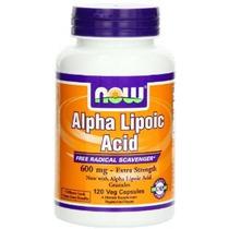 Now Foods Ácido Alfa Lipoico 600 Mg 120 Vcaps