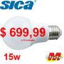 Lampara Led 15w A60 E27 Fria X 10 U Sica Electro Medina
