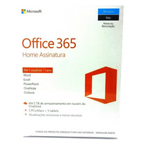 Office 2016 365 Home 1tb 5 Licenças Original